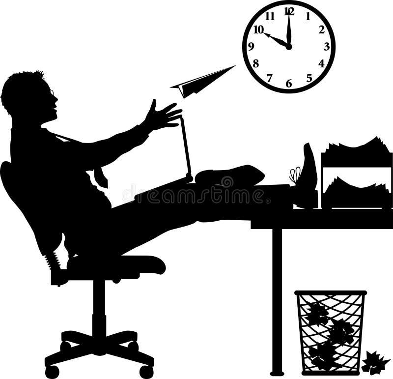 Office_slacker lizenzfreie abbildung