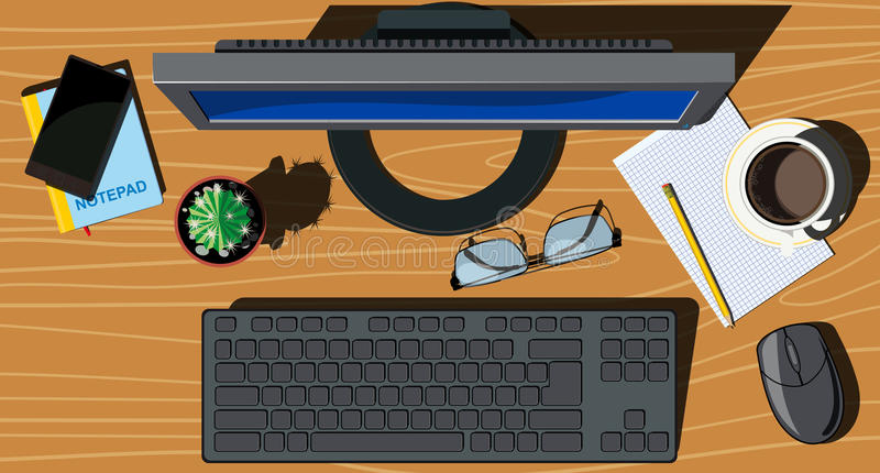 Office space stock illustration