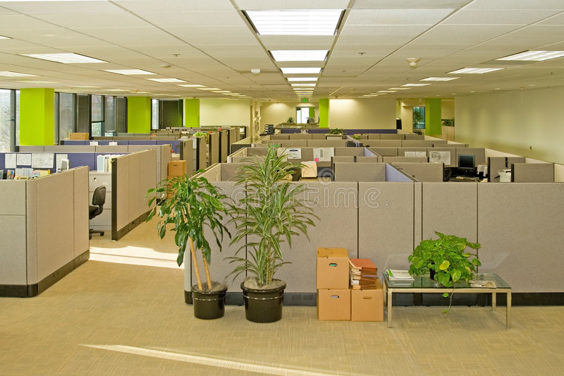 Download Office Spaces stock photo. Image of cubicle, architecture - 2745242