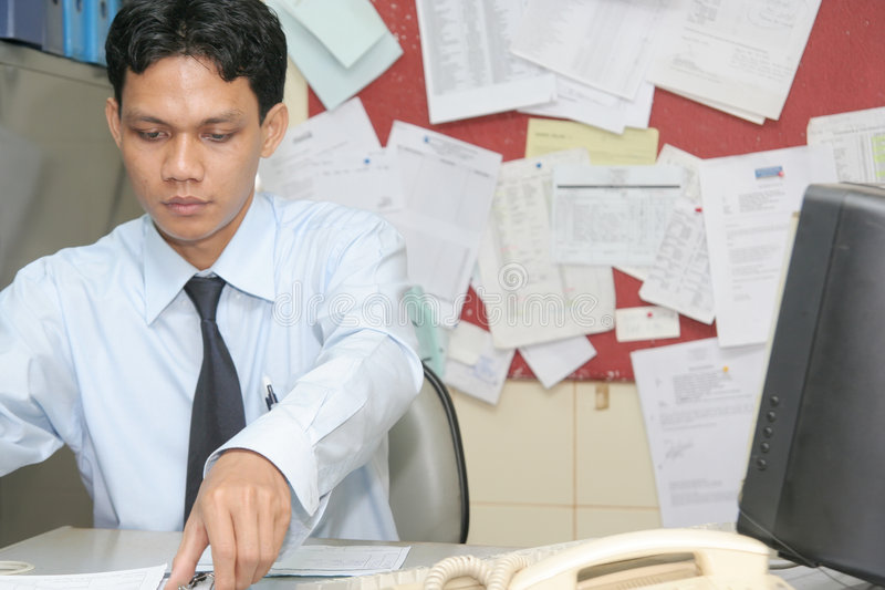 Office staff worker stock photography