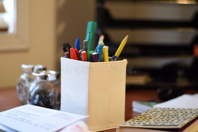 Office stationary stock photo