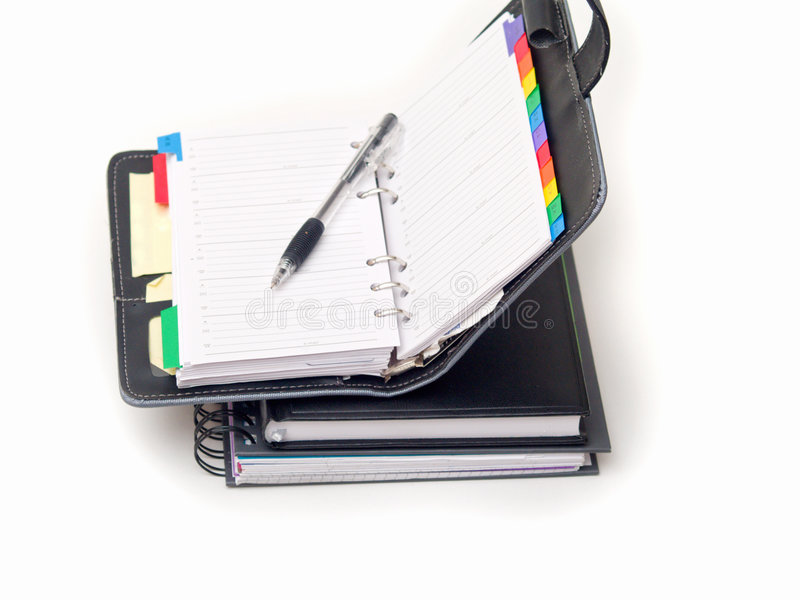 Download Office Stationary - Pen And Diary On White Stock Photo - Image: 8663598
