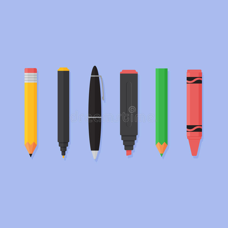 Office Stationary Vector Illustration Stock Vector Illustration of