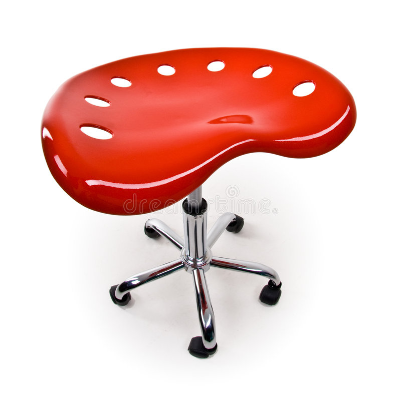 Office stool on wheels royalty free stock photo