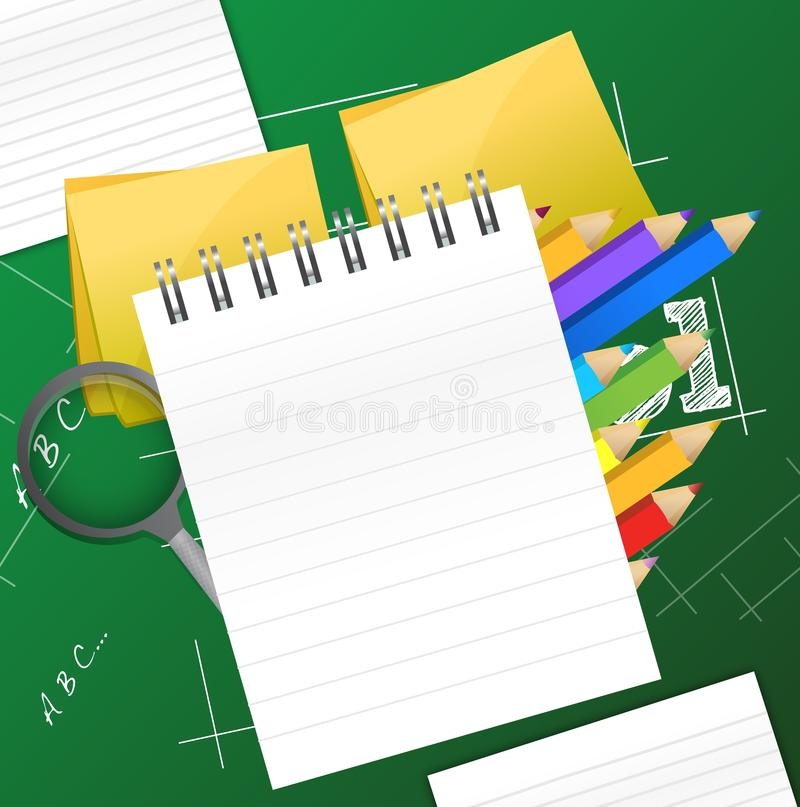 Office and student accessories graphic royalty free illustration