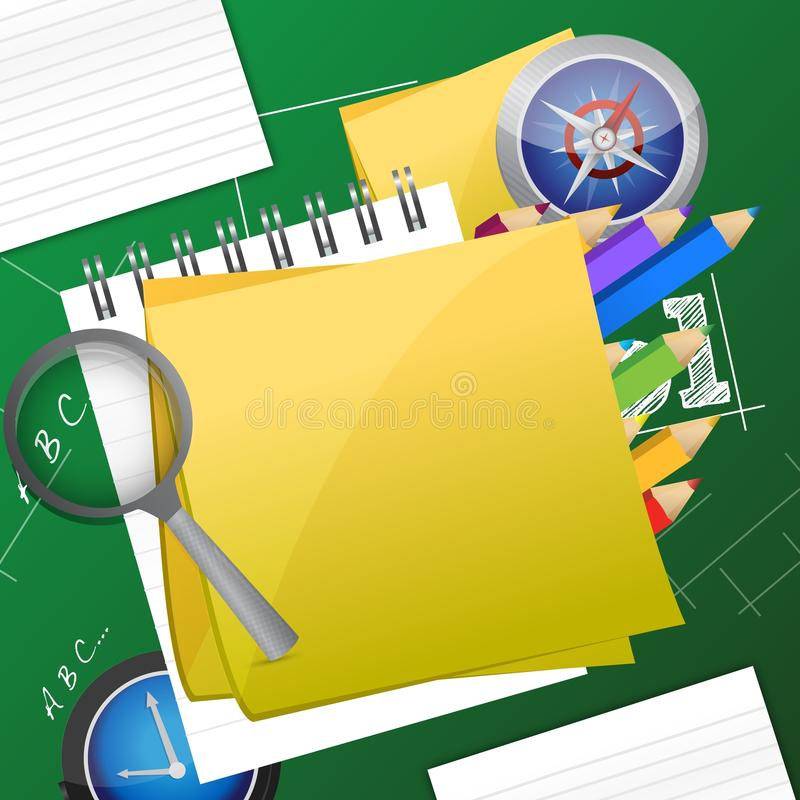 Office and student accessories graphic vector illustration