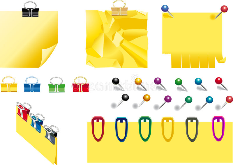 Office suplies. Set of office suplies. Attached file contains vector image in EPS format stock illustration