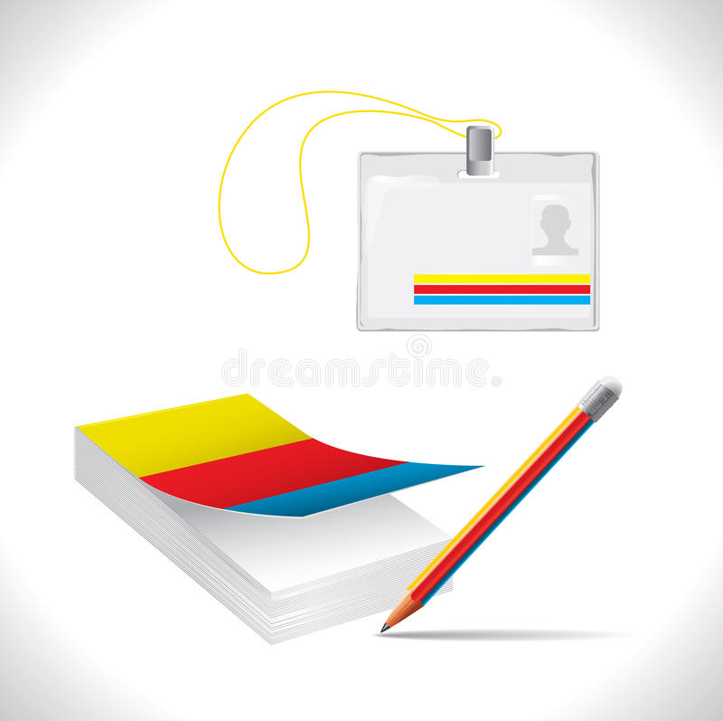 Download Office Supplies stock vector. Illustration of color, notebook - 14911490