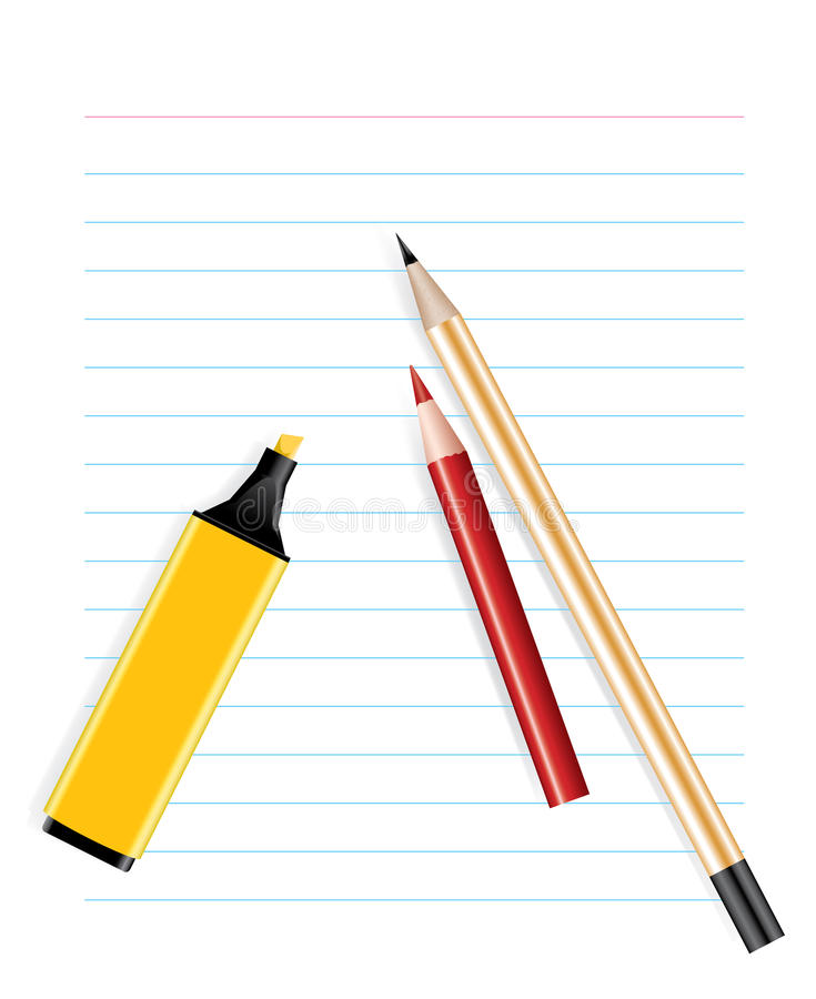 Office supplies stock illustration