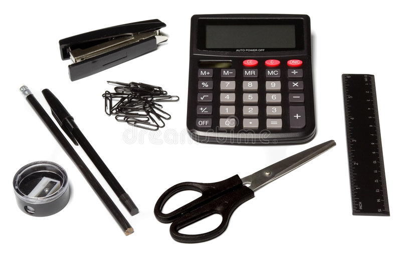 Download Office supplies stock image. Image of finances, paper - 4023753