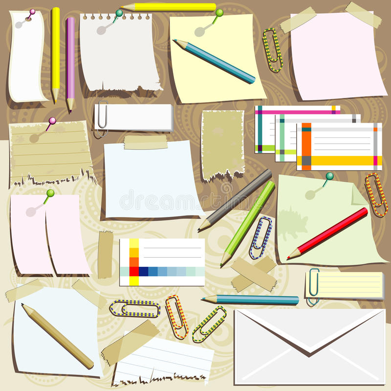 Office Supplies Composition Royalty Free Stock Photos