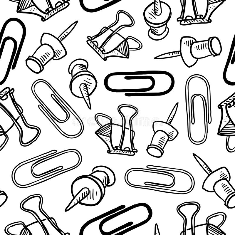 Office supplies seamless background royalty free illustration