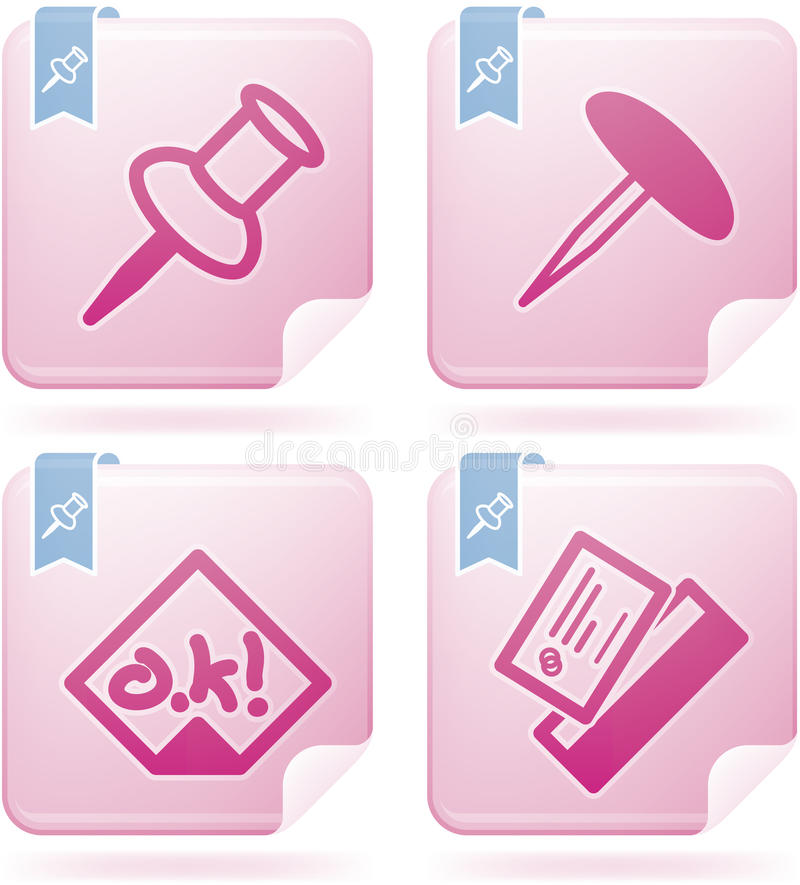 Download Office Supply stock vector. Image of sticker, white, background - 22366010