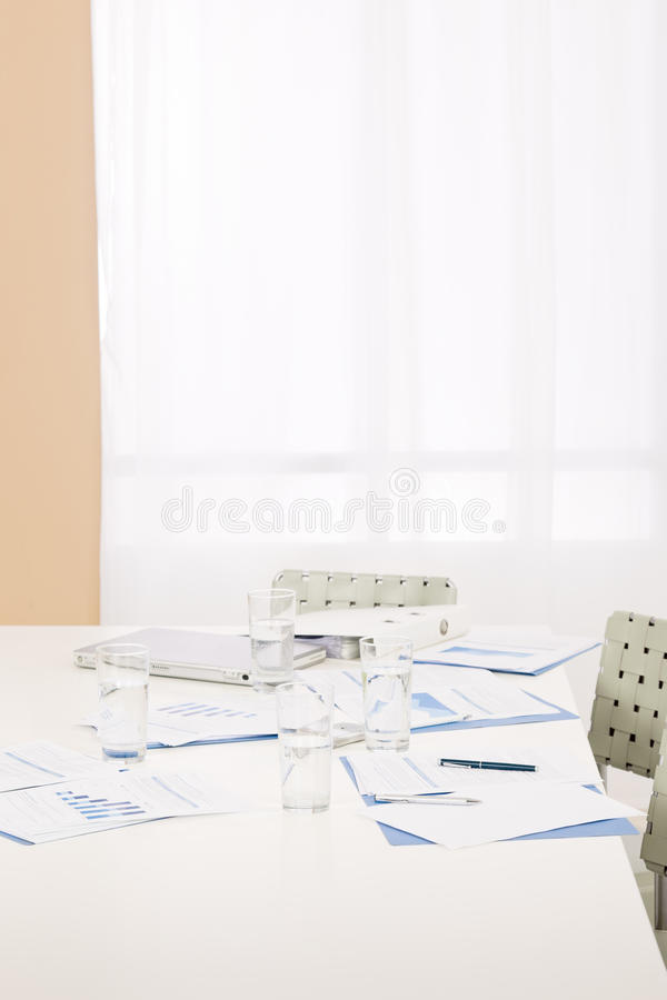 Download Office Supply On Table After Business Meeting Stock Image - Image: 23706465