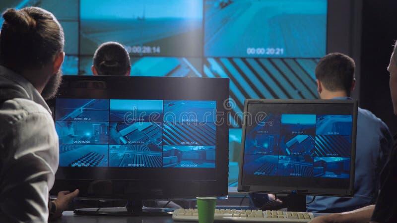 Office surveillance team stock photography