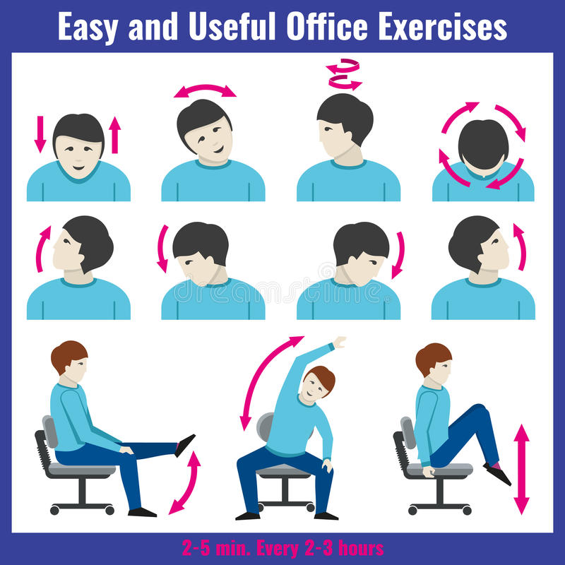 Office syndrome health care concept vector infographic royalty free illustration