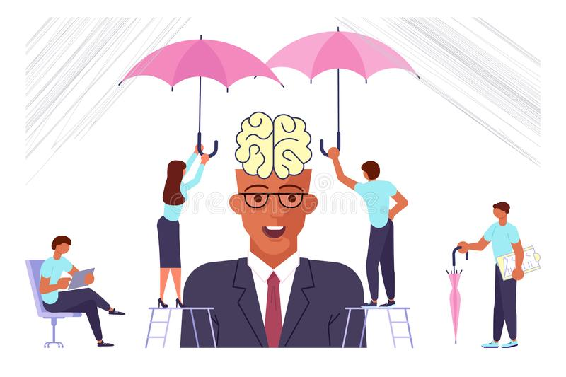 Office syndrome infographic stock illustration