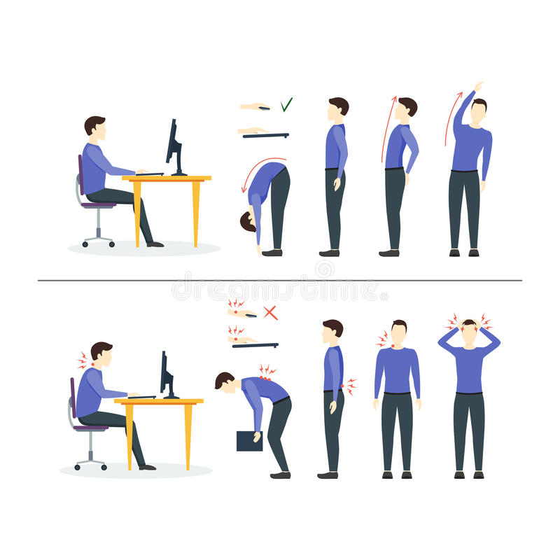 Office Syndrome. Vector stock illustration