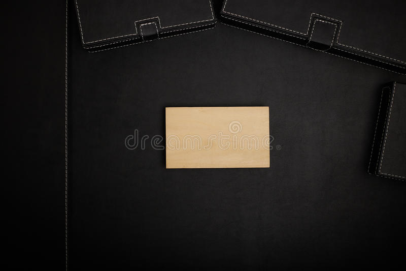 Office table with accessories. stock photo