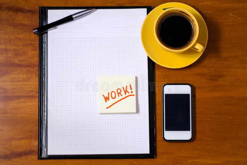 Download Office Table Top View. Stock Photo. Image Of Imitation   64169940