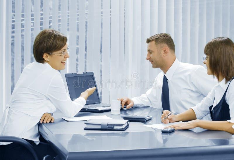 Office Talk Stock Photo