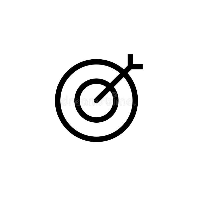 Office target icon design. simple clean line art professional business management concept vector illustration design royalty free illustration