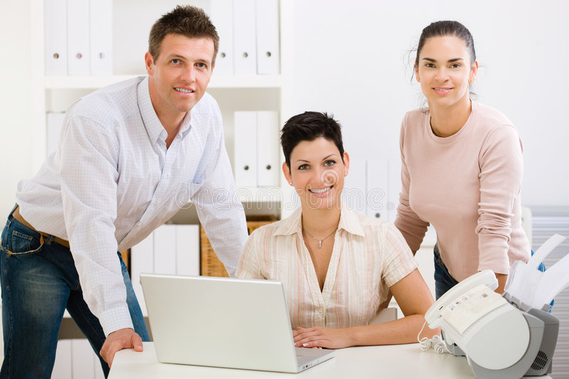 Download Office team smiling stock photo. Image of colleagues, cooperation - 7072382