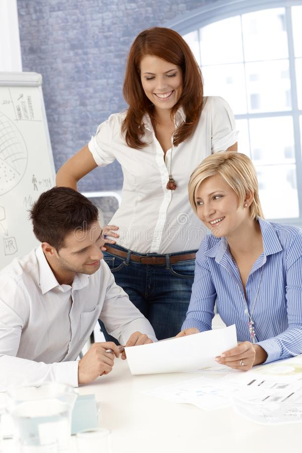 Office team at work royalty free stock photos