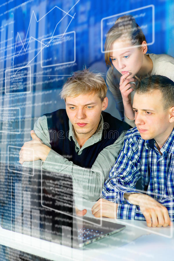 Office teamwork concept stock photography