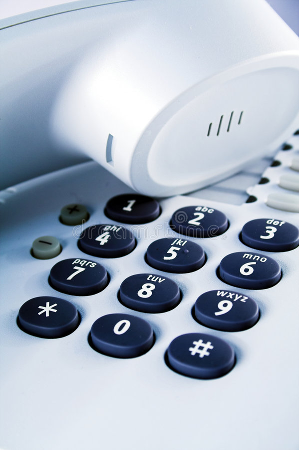 Office telephone detail stock photography