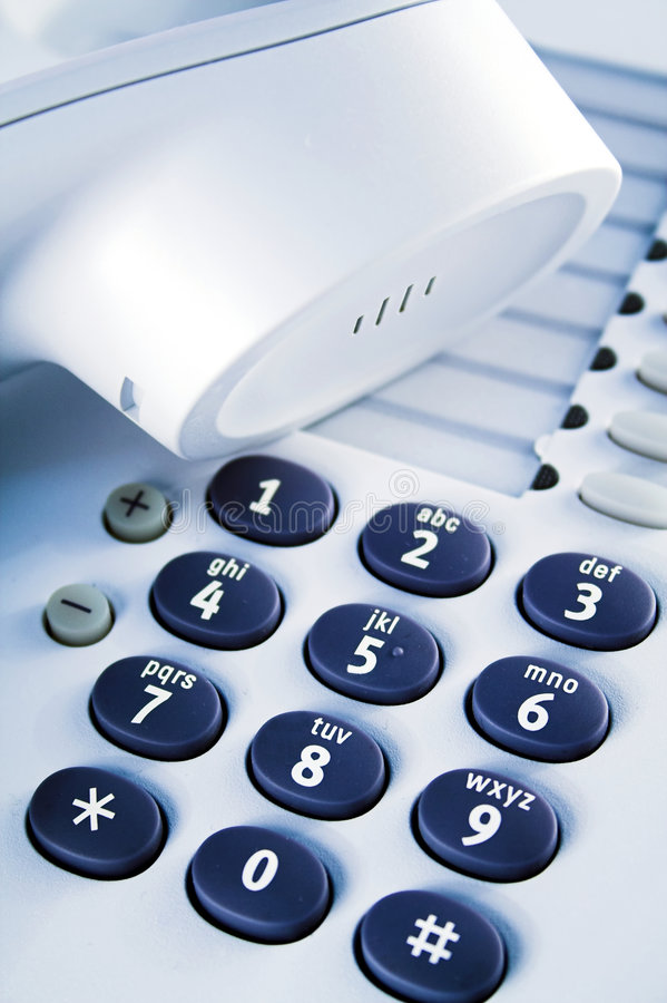 Office telephone detail stock image