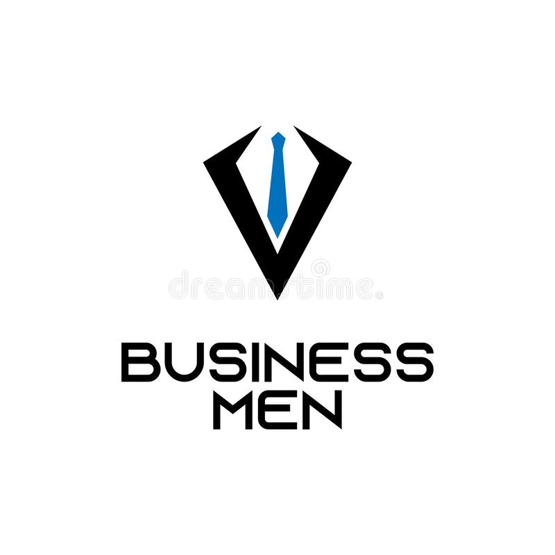 Office tie business abstract vector logo design template professional company icon corporate consultant symbol concept royalty free illustration