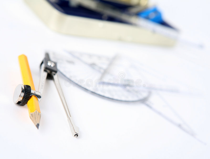 Office tools. White background & closeup stock image