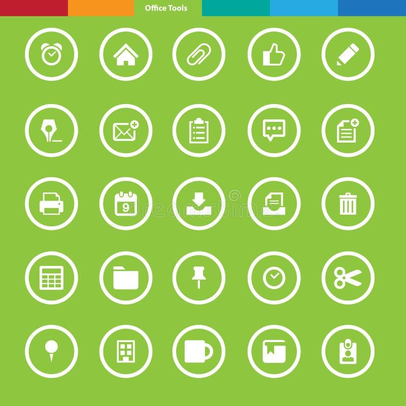 Office tools icon set. Illustration eps10 royalty free illustration
