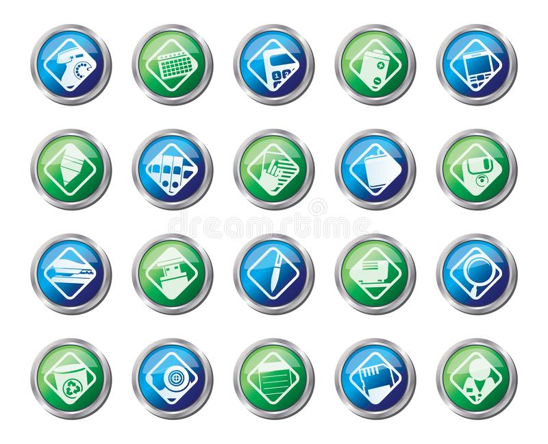 Office tools icons over colored background. Vector icon set 3 vector illustration