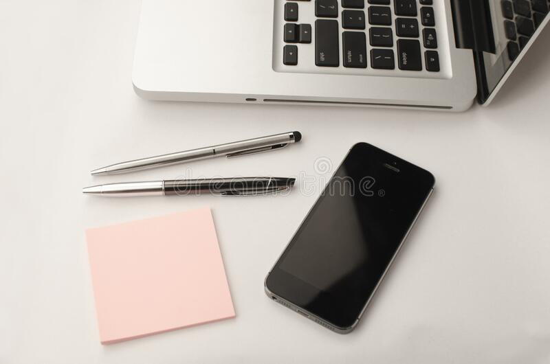 Office tools on table royalty free stock photography