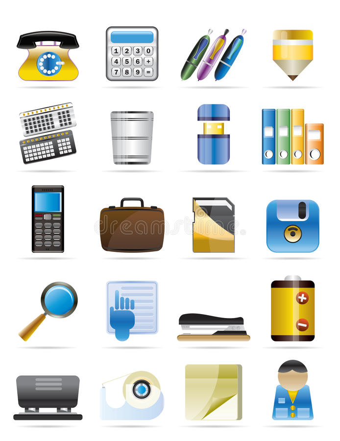 Download Office Tools Vector Icon Set 3 Stock Vector - Image: 9947952