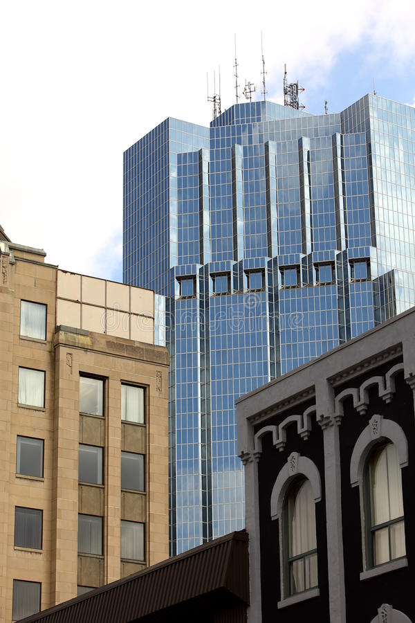 Download Office Tower With Old Buildings. Stock Photo - Image: 10608114