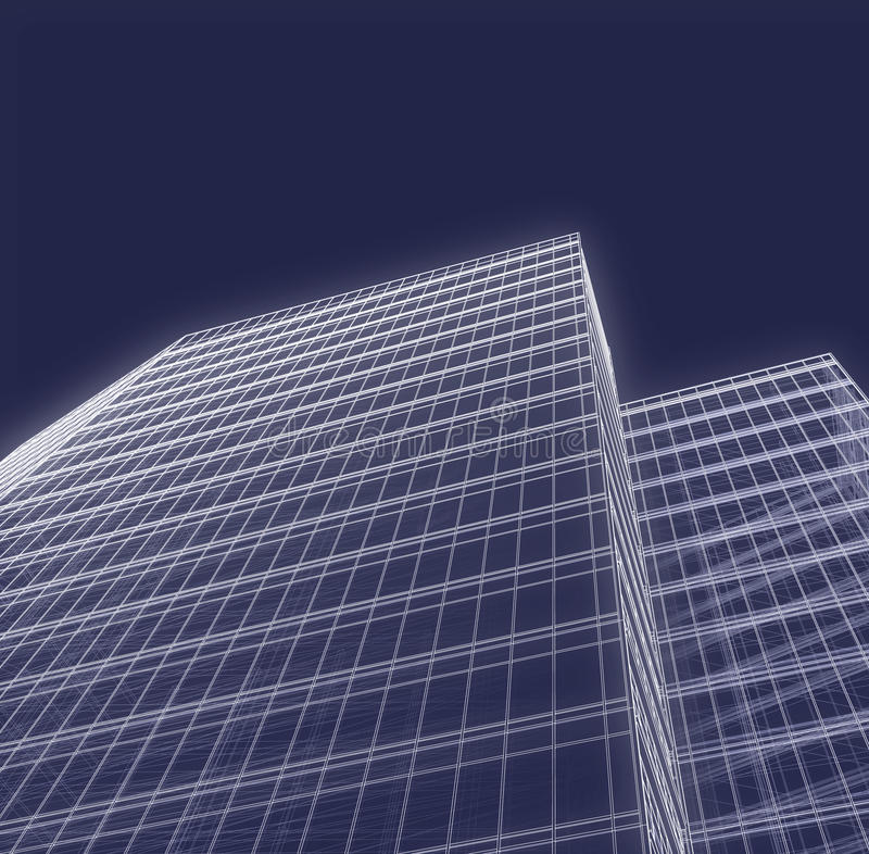 Office Towers royalty free illustration
