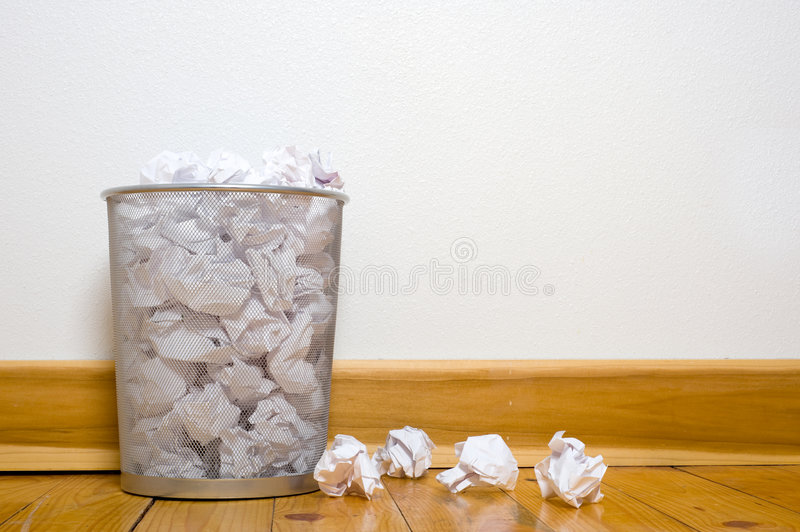 Download Office Trash Can On Wood Floor Stock Photo - Image of apartment, wall: 5825934