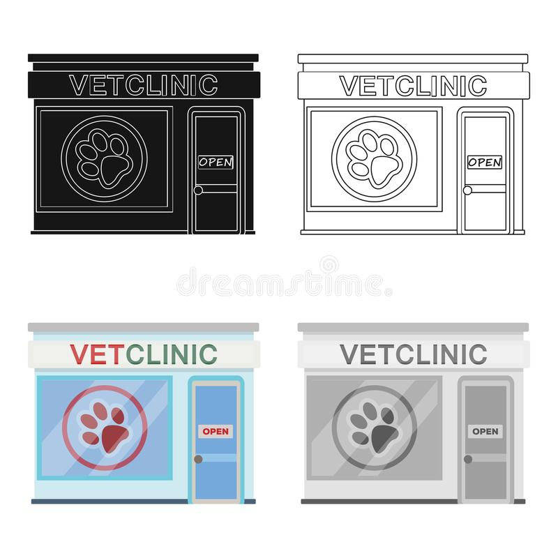 Office of the veterinary clinic. Pet care single icon in cartoon style vector symbol stock illustration web. Office of the veterinary clinic. Pet care single royalty free illustration