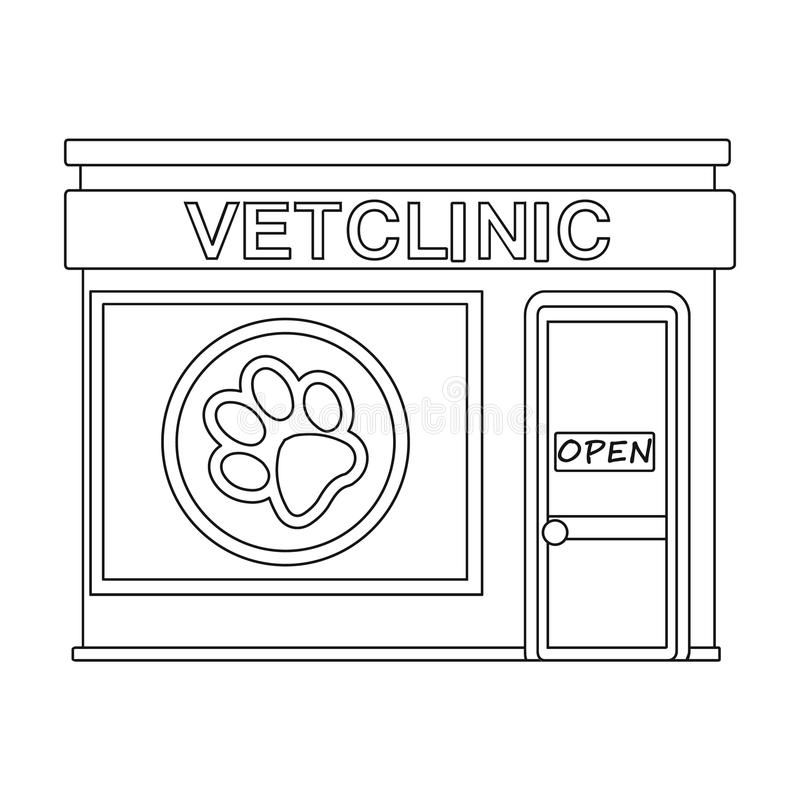 Office of the veterinary clinic. Pet care single icon in outline style vector symbol stock illustration web. Office of the veterinary clinic. Pet care single royalty free illustration