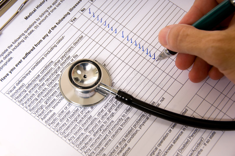 Office Visit eines Doktors lizenzfreie stockfotos