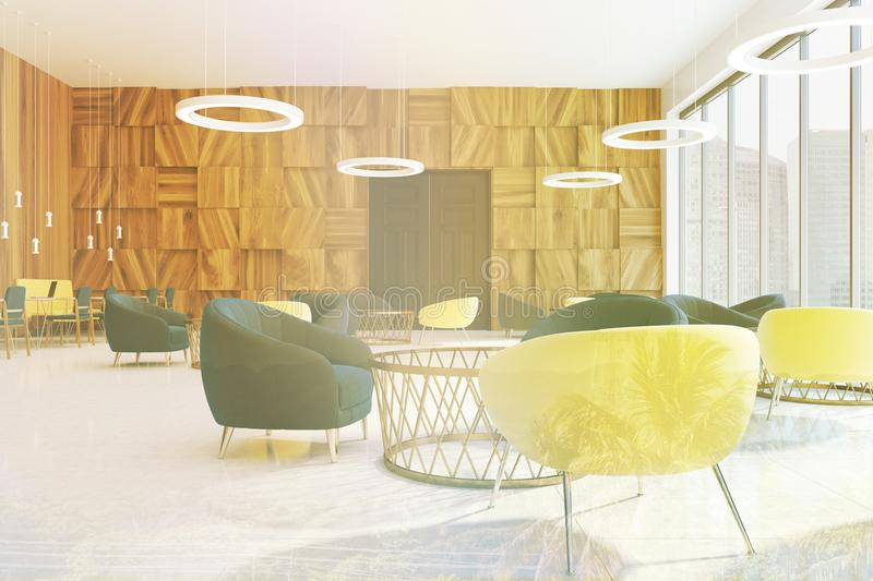 Office Waiting Area, Armchairs And Tables Toned Stock Illustration ...