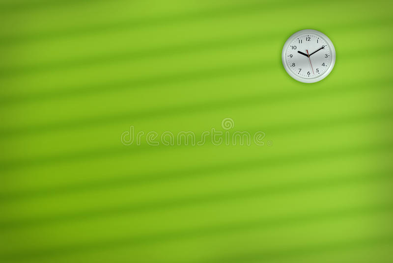 Download Office Wall Clock stock photo. Image of green, inside - 11179826