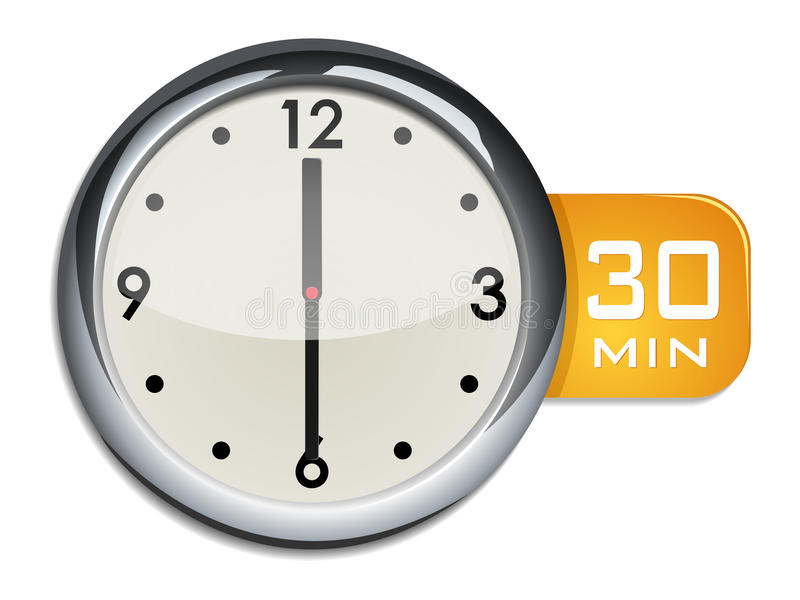 Office wall clock timer 30 minutes royalty free stock images