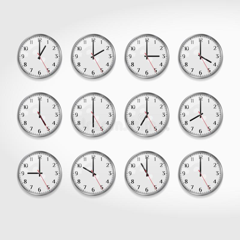 office wall clocks. Download Office Wall Clocks Showing The Times Of Day. Round Quartz Analog Clock.