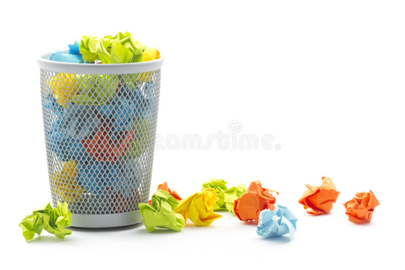 Wastepaper Basket Entrancing Office Wastepaper Basket Stock Photos  Image 28879373 Review