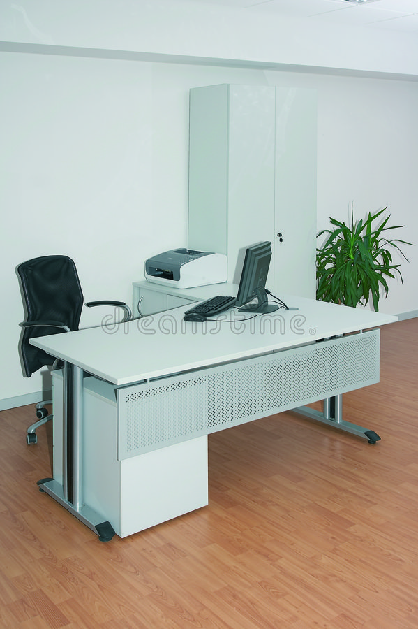 Office white stock photos