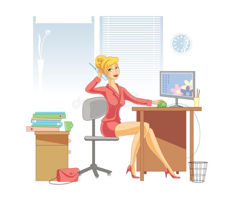 Office woman vector illustration
